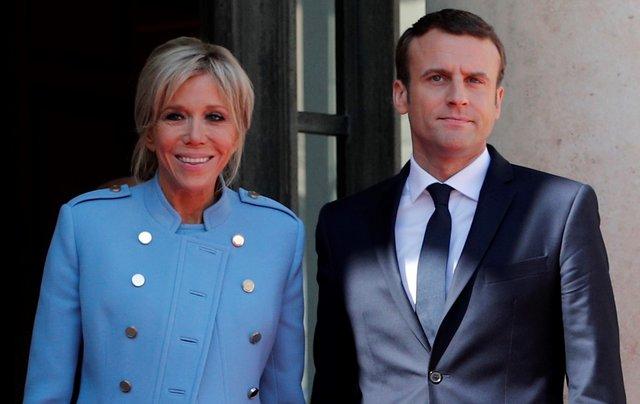 <p>Emmanuel Macron, Brigitte Macron (AP Photo/Christophe Ena)</p>