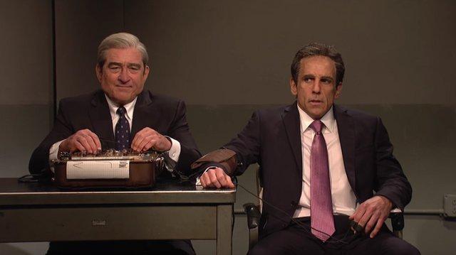 Πολιτική της συμφοράς: Ρόμπερτ Ντε Νιρο και Μπεν Στίλερ ως Μιούλερ και Κόεν στο SNL