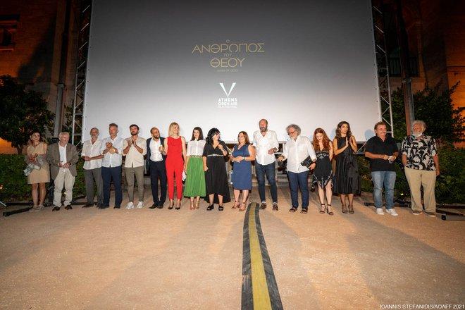 Η σκηνοθέτις, Γελένα Πόποβιτς, ο συνθέτης, Ζμπίγκνιεφ Πράισνερ, η Διευθ. Σύμβουλος της Feelgood Ent., Ειρήνη Σουγανίδου, η παραγωγός και δημοσιογράφος, Μαρία Γιαχνάκη, η σκηνογράφος, Εύα Νάθενα, ο παρ